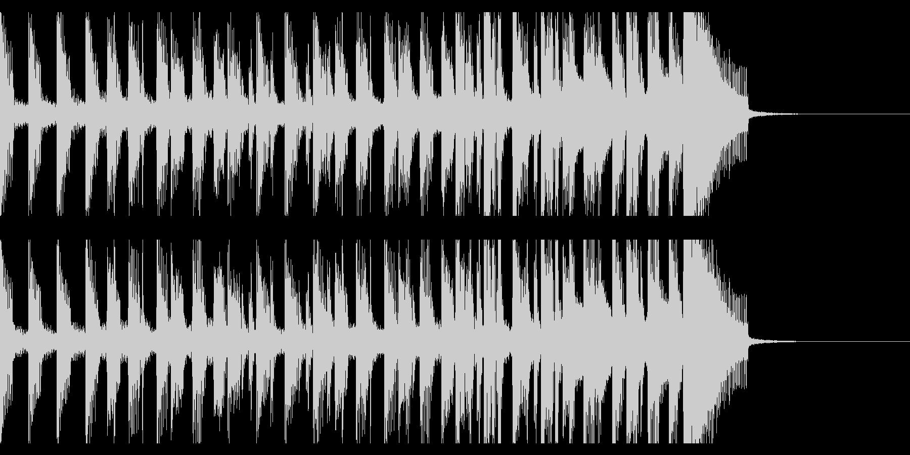 高揚感満載の15秒オープニング・ジングルの未再生の波形