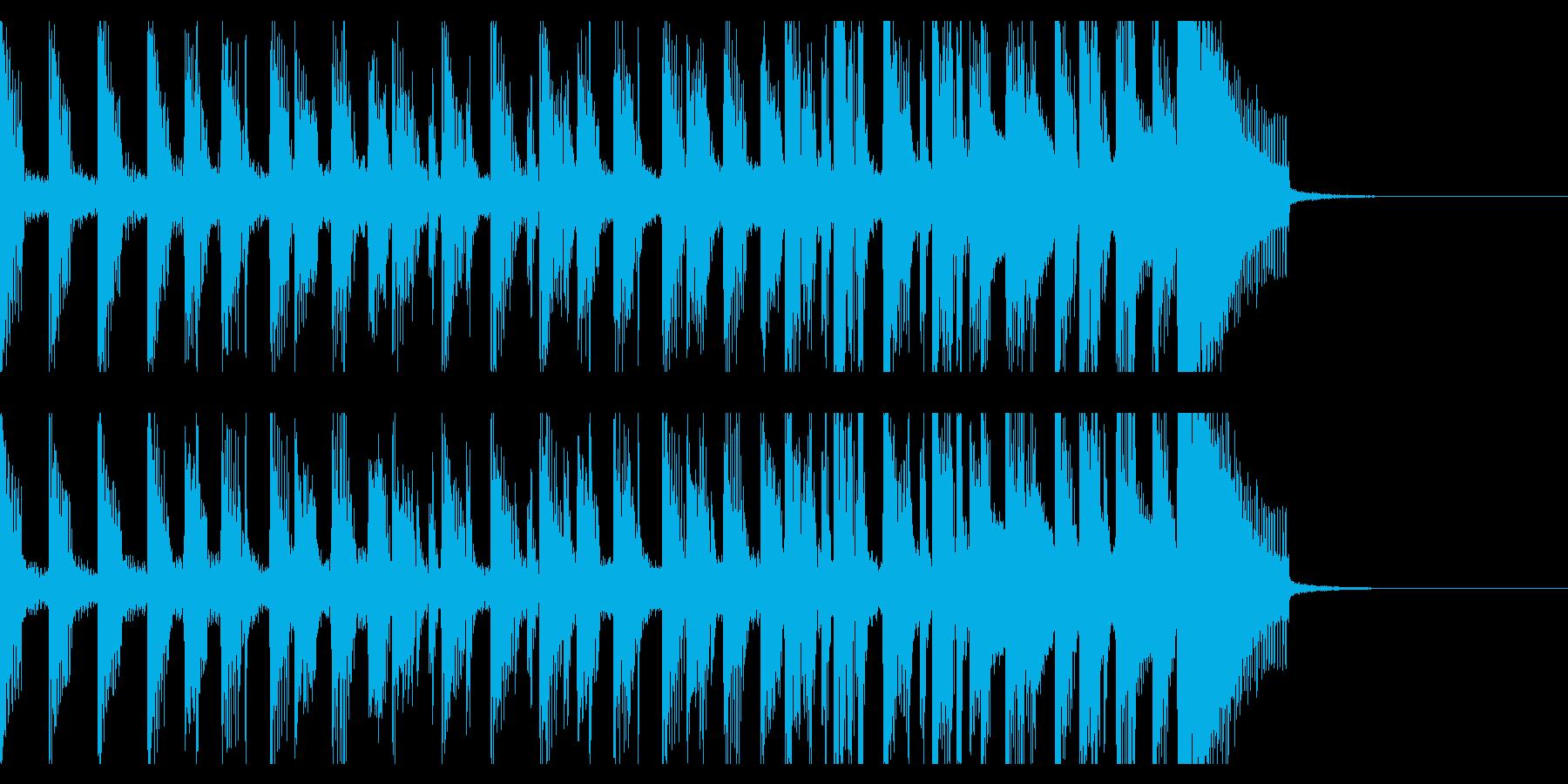 高揚感満載の15秒オープニング・ジングルの再生済みの波形