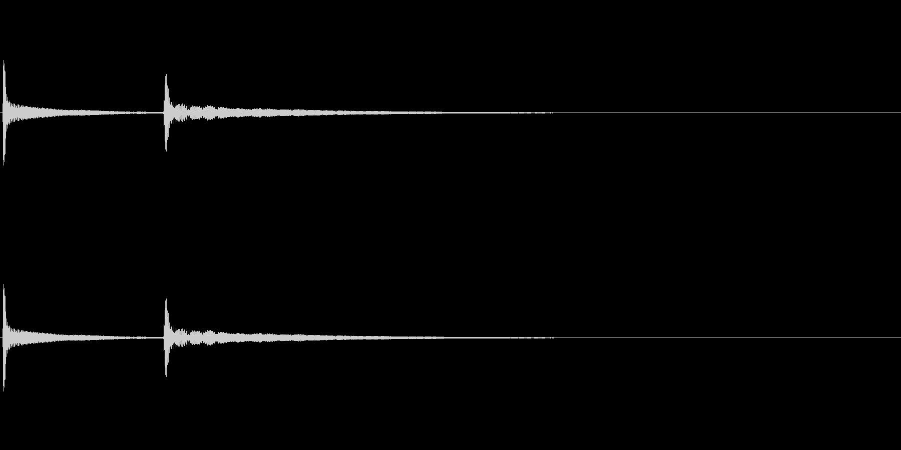 SNS風 通知音 着信音 ピコンの未再生の波形