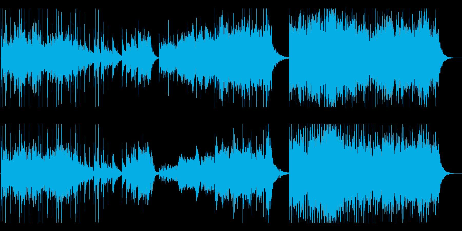 軽快なアコギとエレクトロサウンドの再生済みの波形