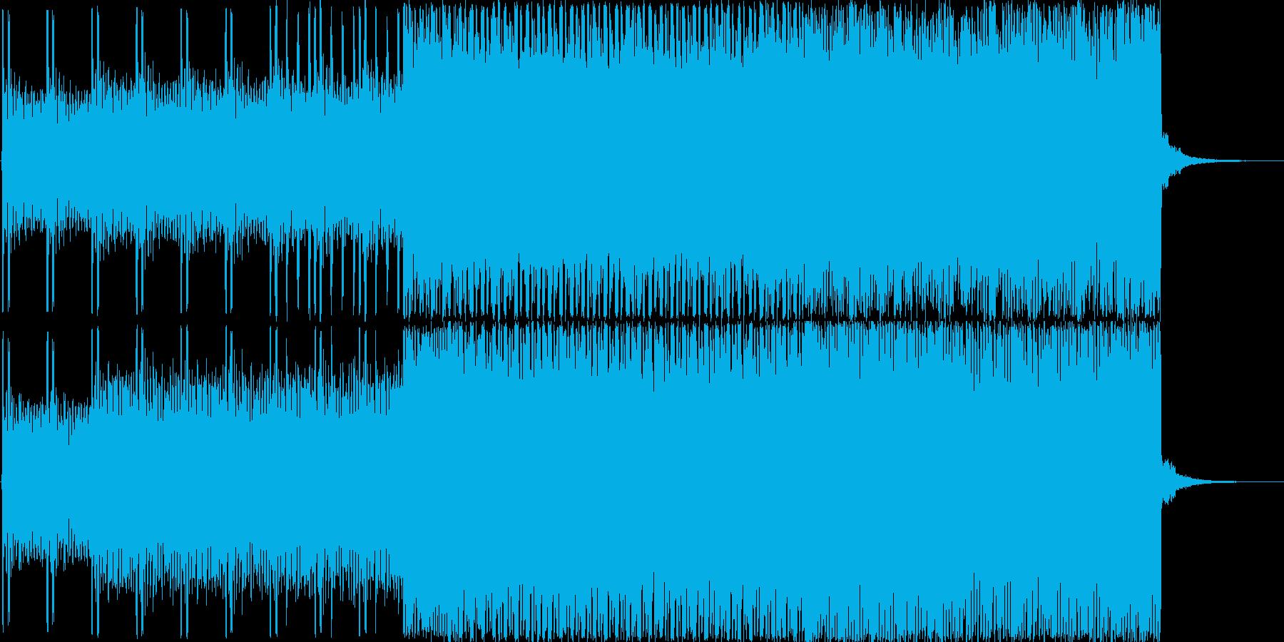 緊張感のあるサイバーな楽曲の再生済みの波形