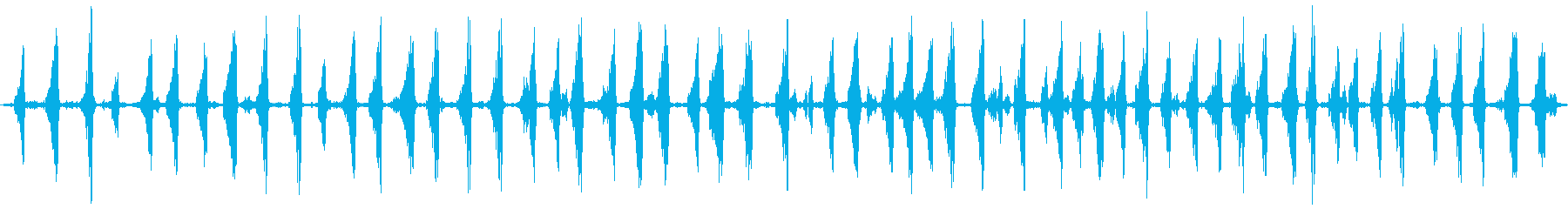 イイジマムシクイのさえずり(長め)の再生済みの波形