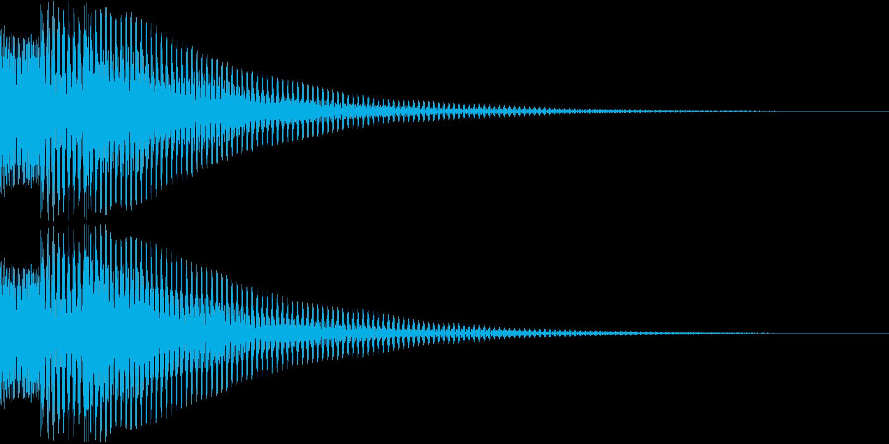 汎用性の高い、ボタン音、決定音の再生済みの波形