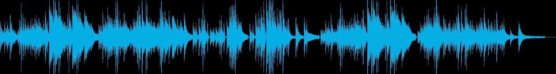 そっとやさしい 気まぐれピアノ曲の再生済みの波形