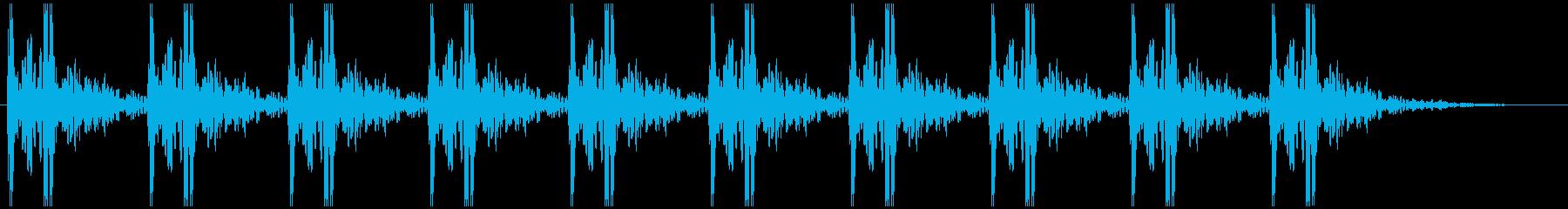 早い心臓の鼓動 ドクンドクンの再生済みの波形