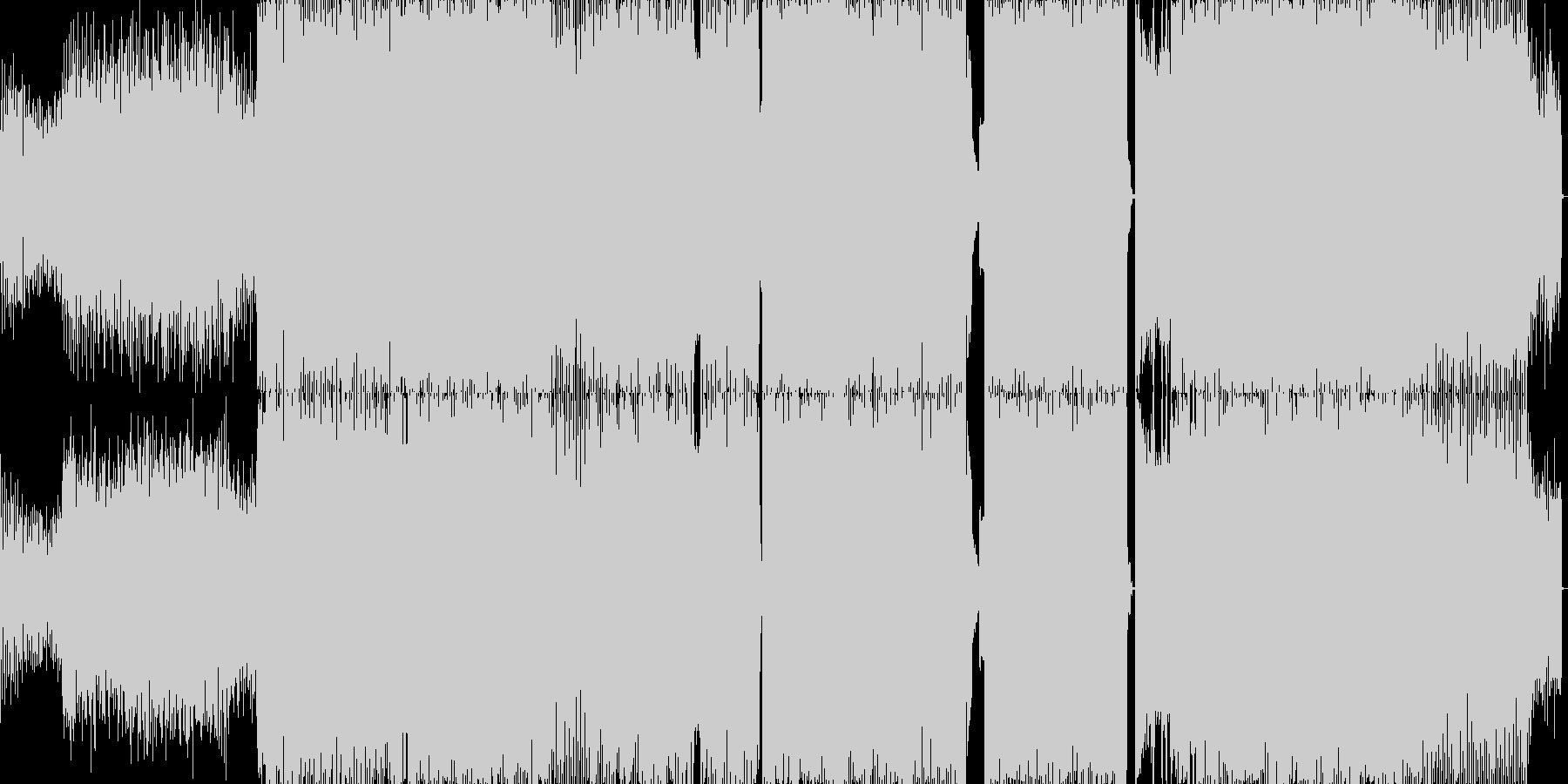 洋楽っぽいダンス楽曲の未再生の波形