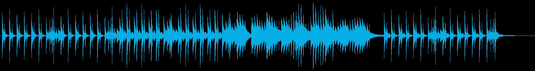 回想、和風、しっとりせつない、ピアノ、琴の再生済みの波形