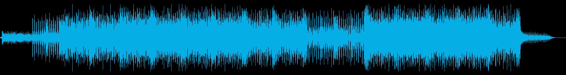 16ビートのシンセリードがリフのBGMの再生済みの波形
