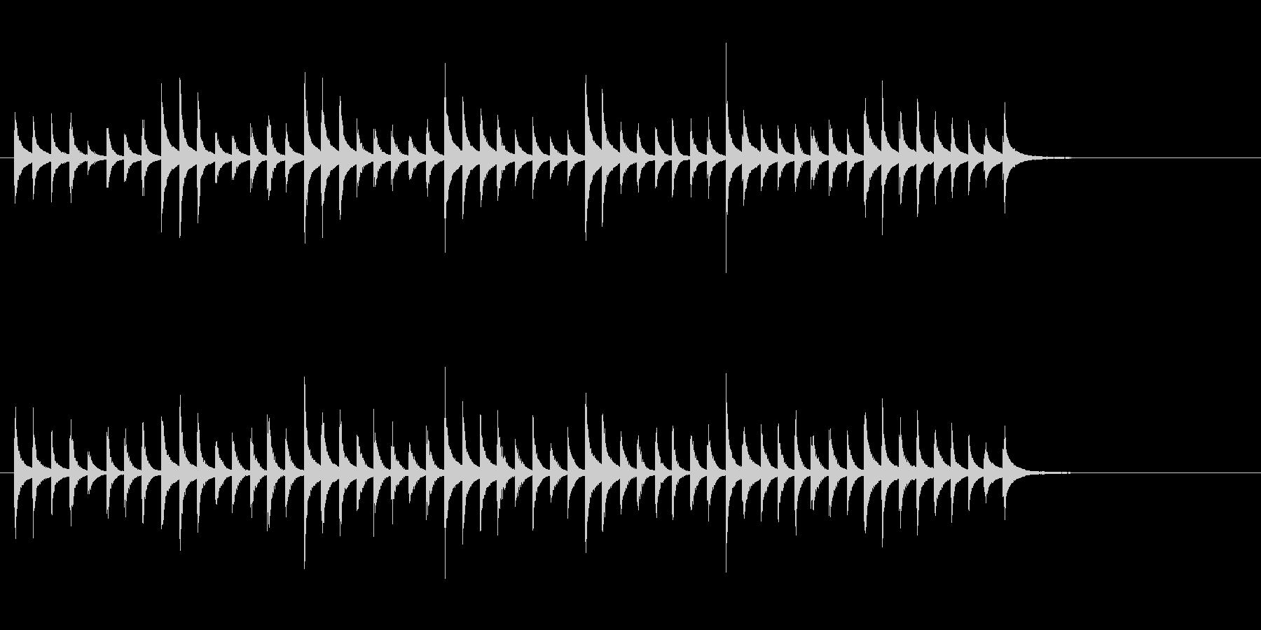 松虫9キラキラ鉄琴アジアン和風歌舞伎鳴物の未再生の波形