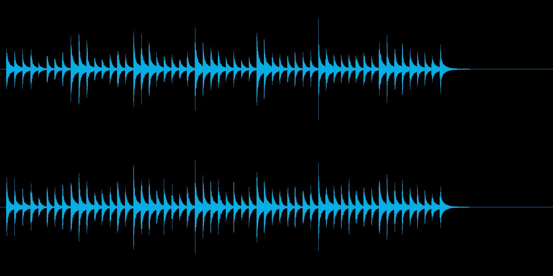 松虫9キラキラ鉄琴アジアン和風歌舞伎鳴物の再生済みの波形