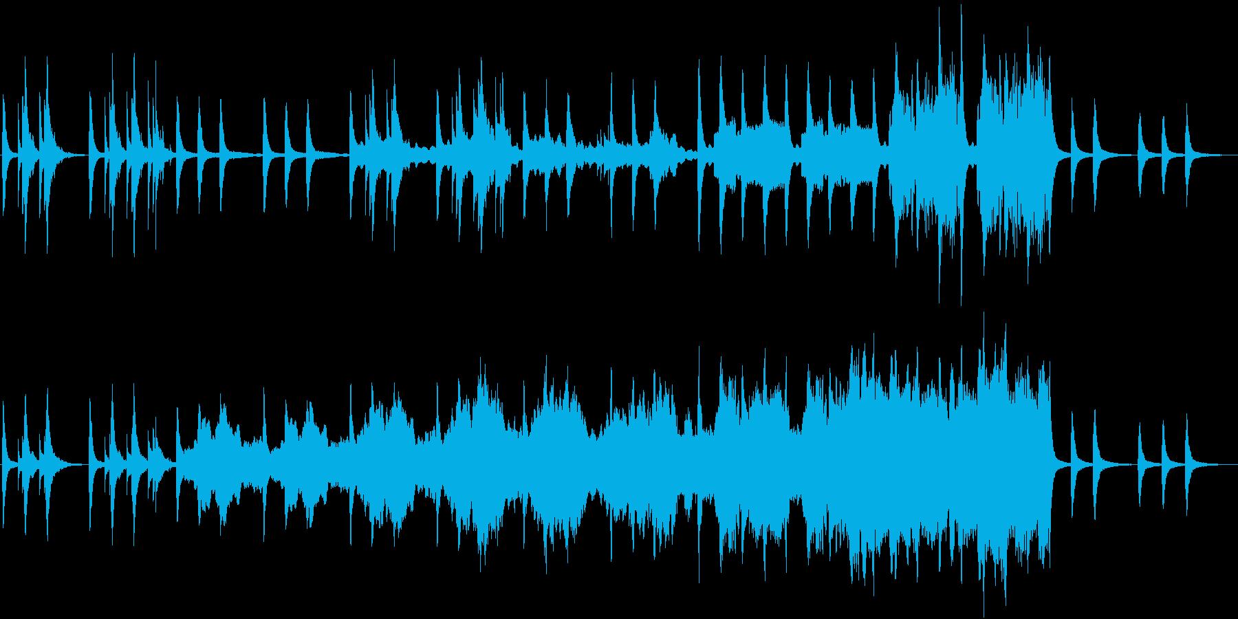 ゲーム中リラックスできる不思議なバラードの再生済みの波形