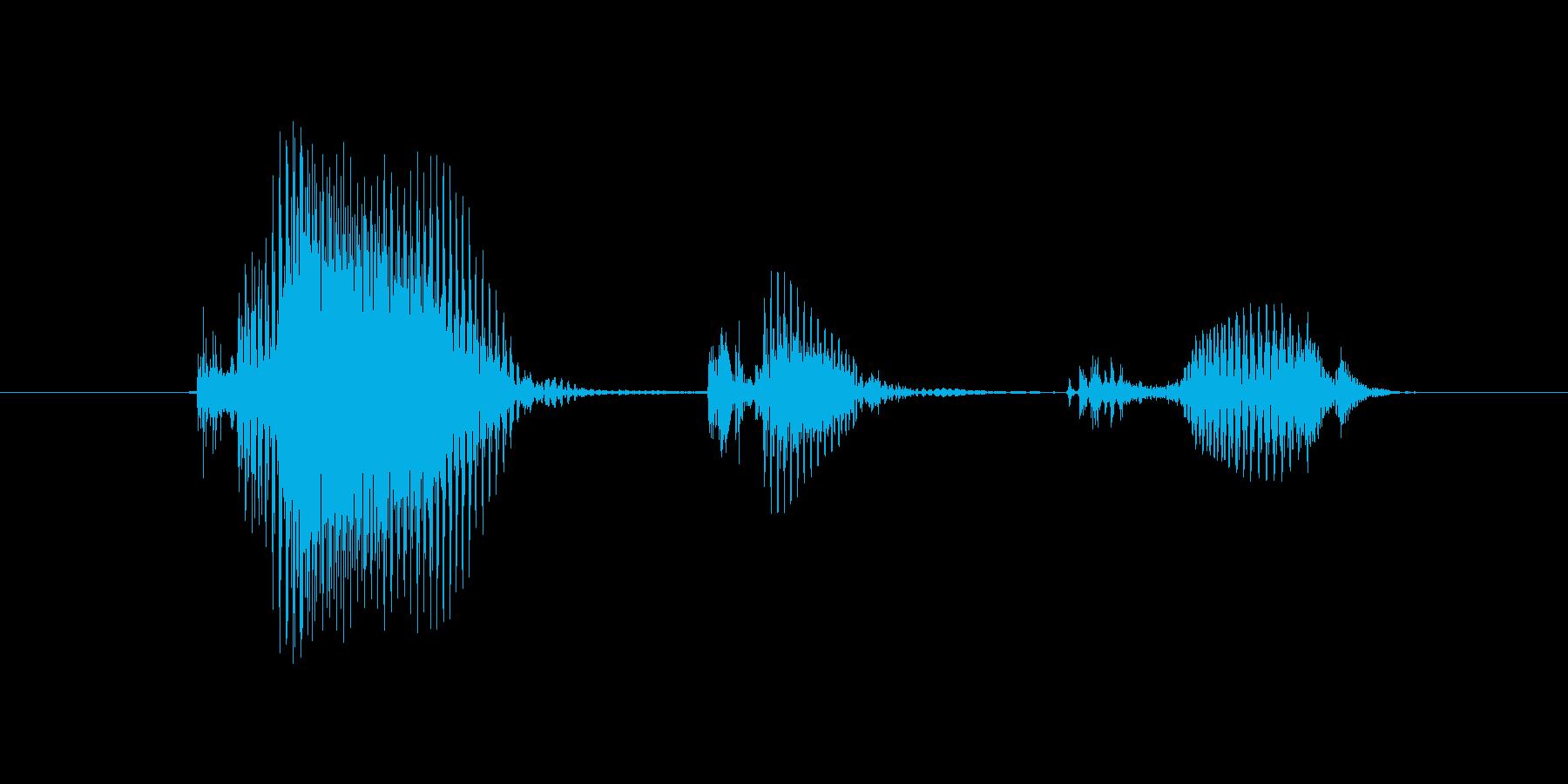 警告(けいこく)の再生済みの波形