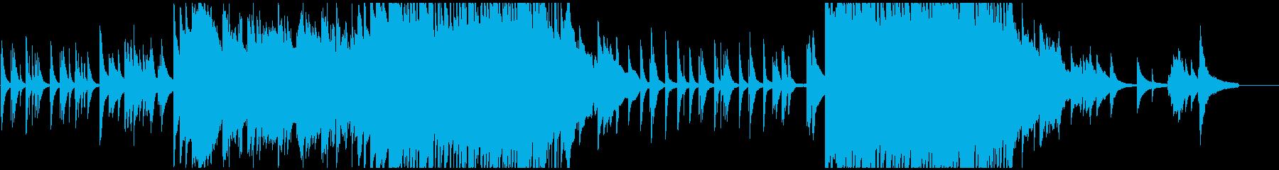 少し切ない落ち着いた曲調の和風ピアノ曲の再生済みの波形