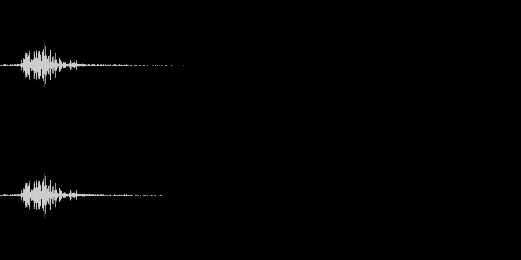 「バサッ」の未再生の波形