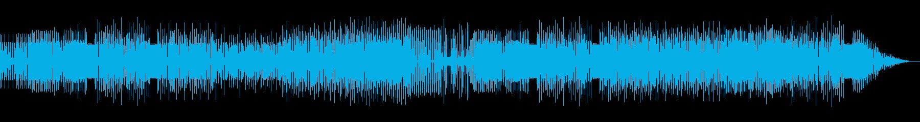 ボンゴ・コンガ使いのリズミカルなハウスの再生済みの波形