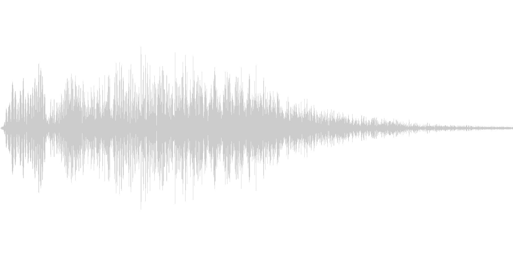 キャンセル音、削除音の未再生の波形
