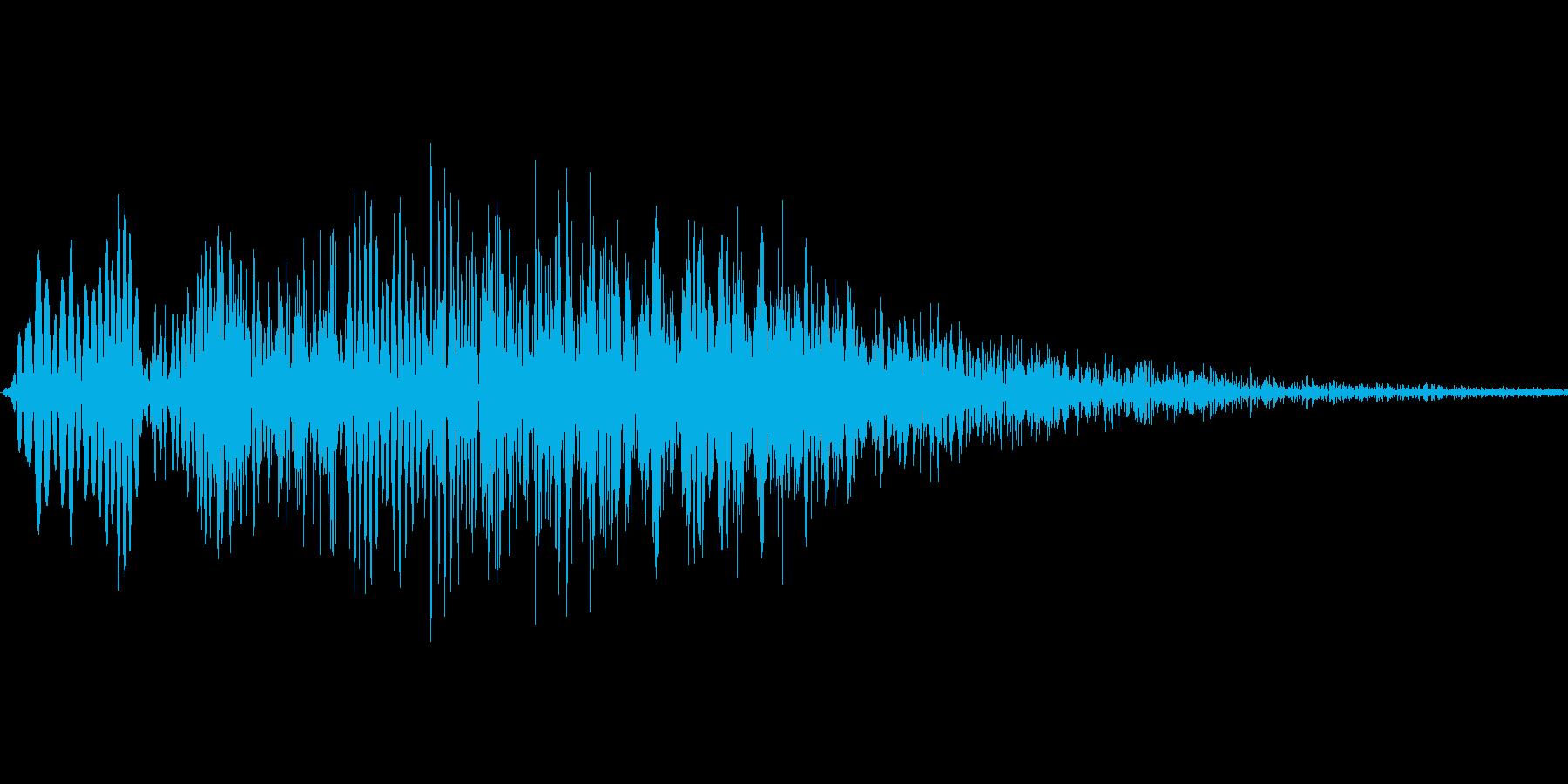 キャンセル音、削除音の再生済みの波形