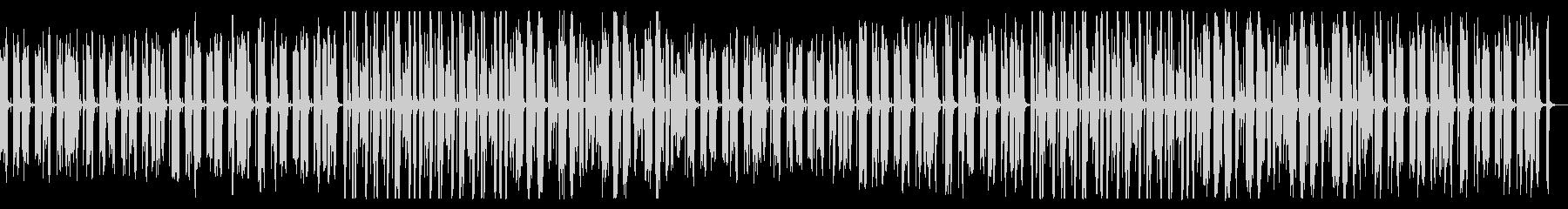 ほのぼのとしたアコーディオンBGMの未再生の波形