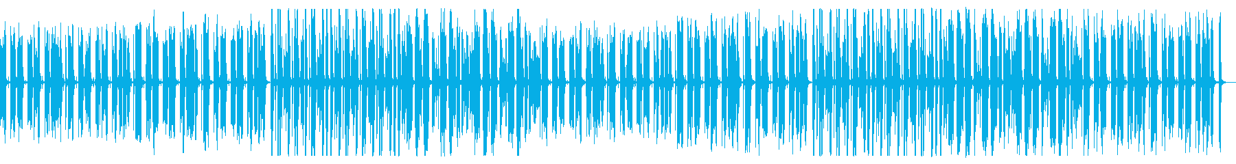 ほのぼのとしたアコーディオンBGMの再生済みの波形