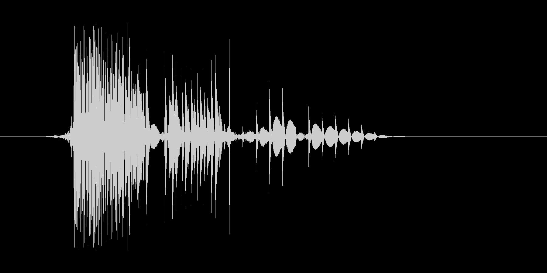 ゲーム(ファミコン風)ヒット音_006の未再生の波形