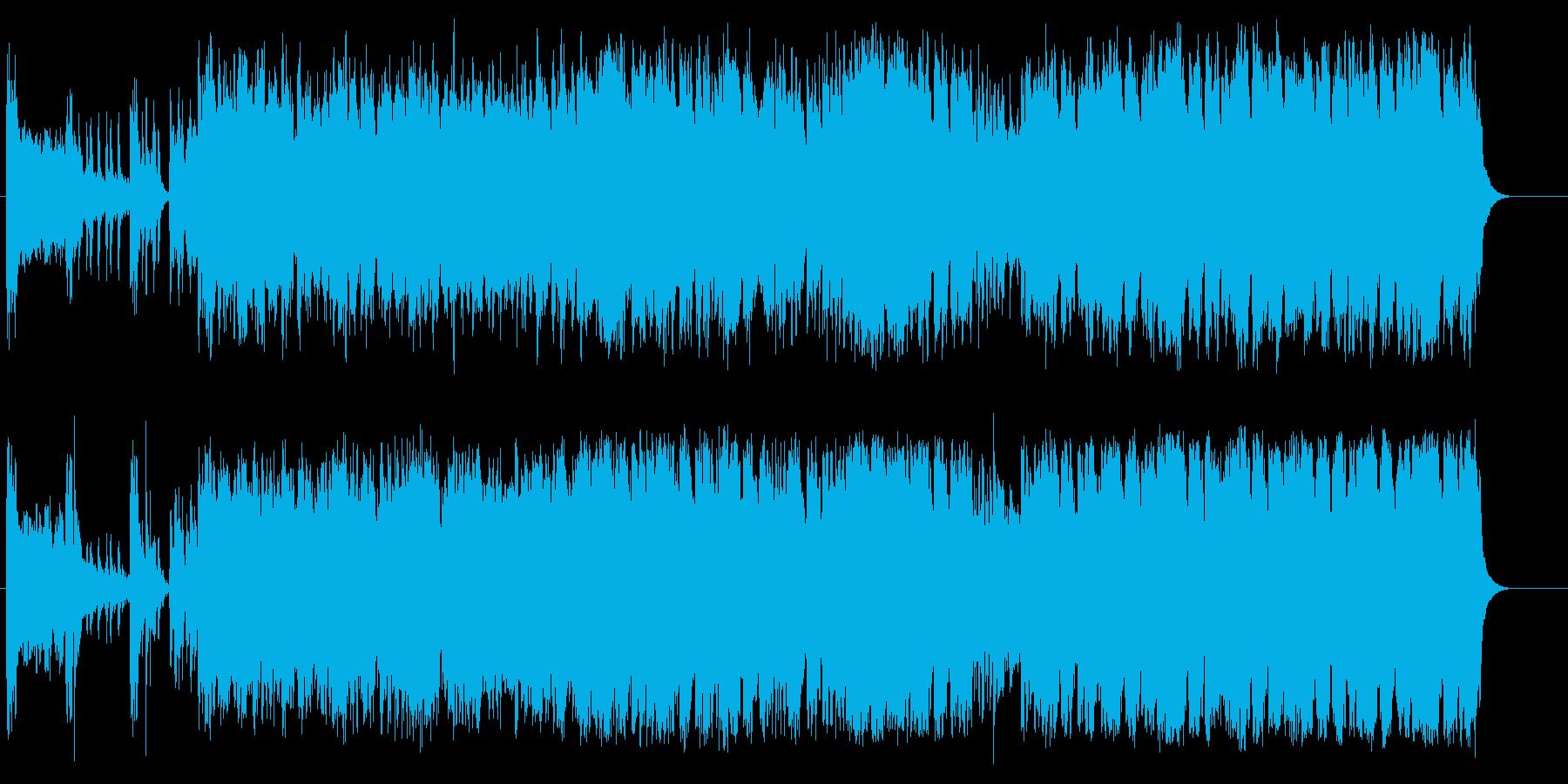 とめどない大いなる流れの力の再生済みの波形