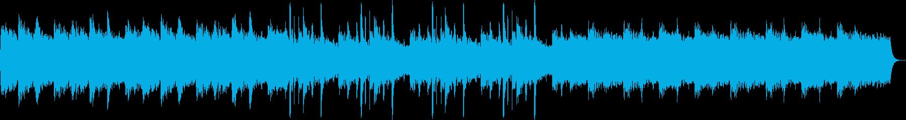 ゆっくりと優しいピアノシンセサウンドの再生済みの波形
