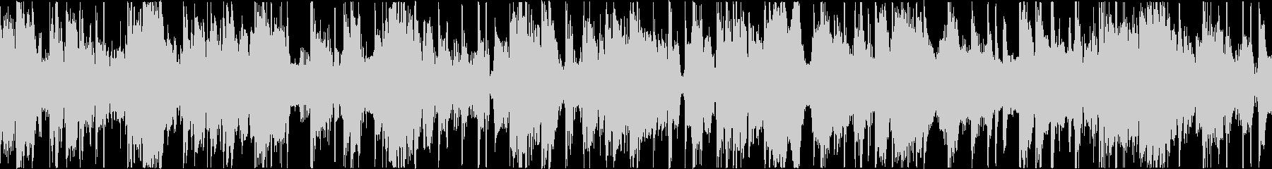 心地よいベース音のファンクトラックの未再生の波形