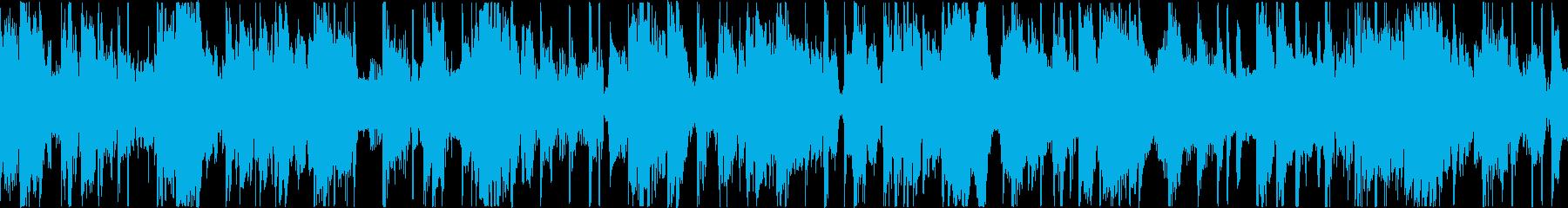 心地よいベース音のファンクトラックの再生済みの波形