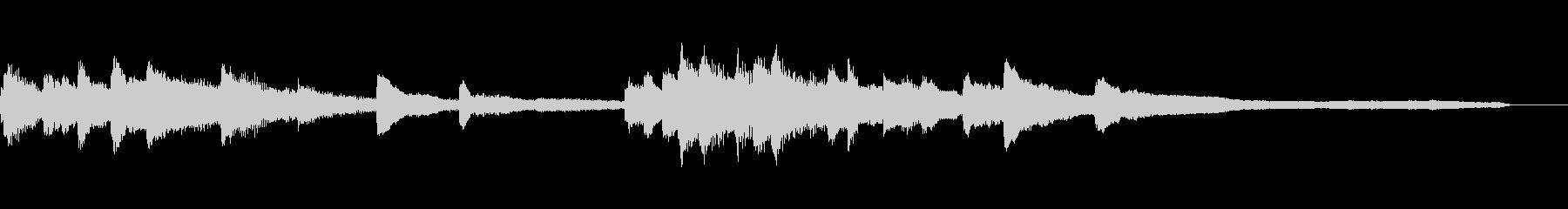 優雅な和風ジングル57-ピアノソロの未再生の波形
