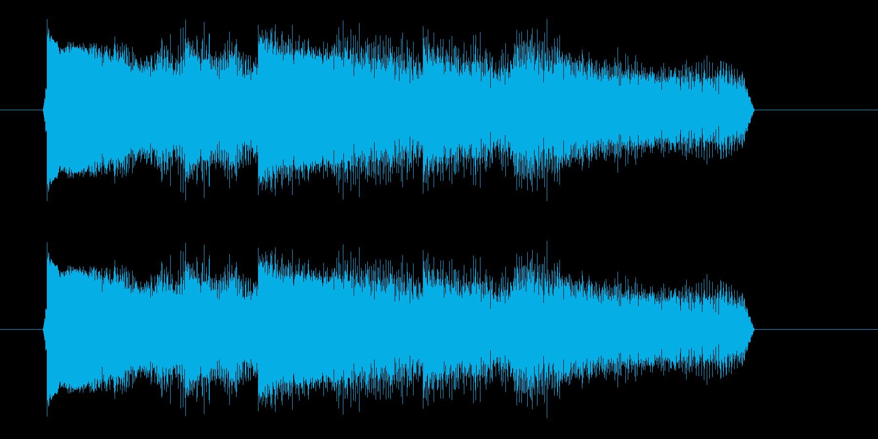 エレキギターのアームダウンの再生済みの波形