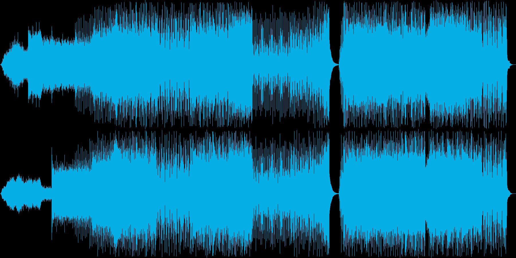 【バンドのみ】疾走感のあるダンスロックの再生済みの波形