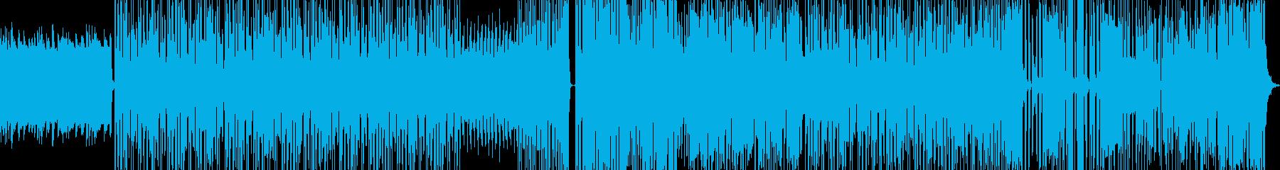 サイバーな感じの戦闘曲の再生済みの波形
