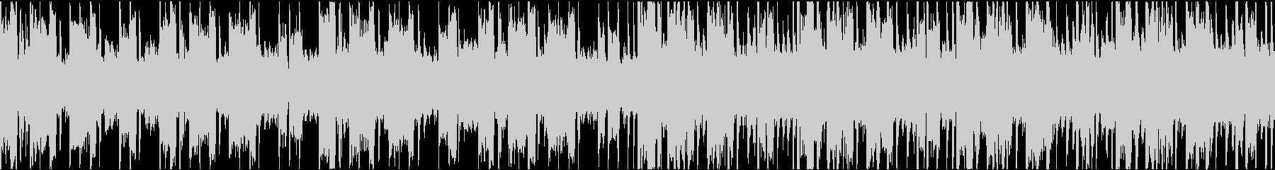 無機質なテクスチャー系BGMの未再生の波形