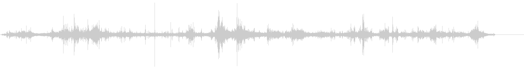 湖畔の波の音 ドボン ポチョン ザブン の未再生の波形