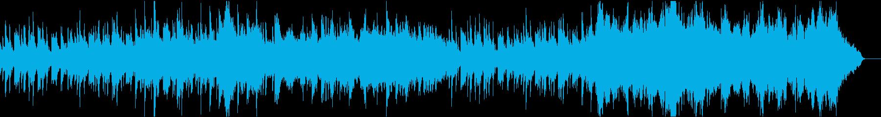 琴とオーケストラの和風で日本的な楽曲の再生済みの波形