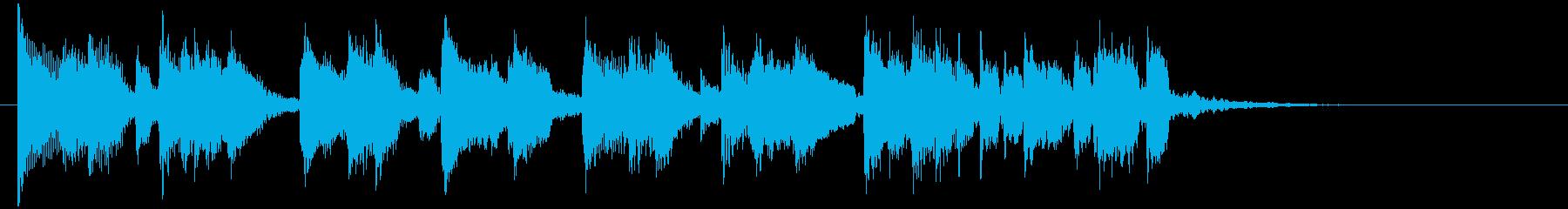 2本のアコギによるフラメンコのジングルの再生済みの波形