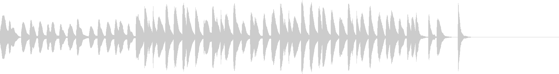 マリンバのコミカルでかわいいジングル3の未再生の波形