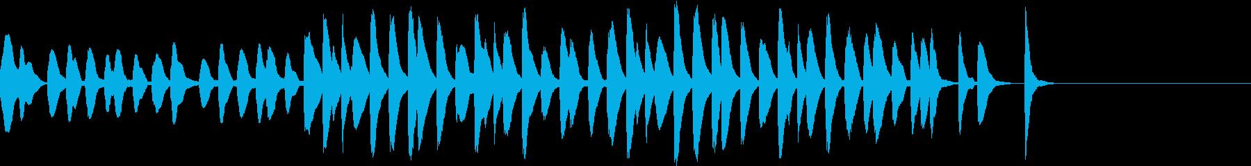 マリンバのコミカルでかわいいジングル3の再生済みの波形
