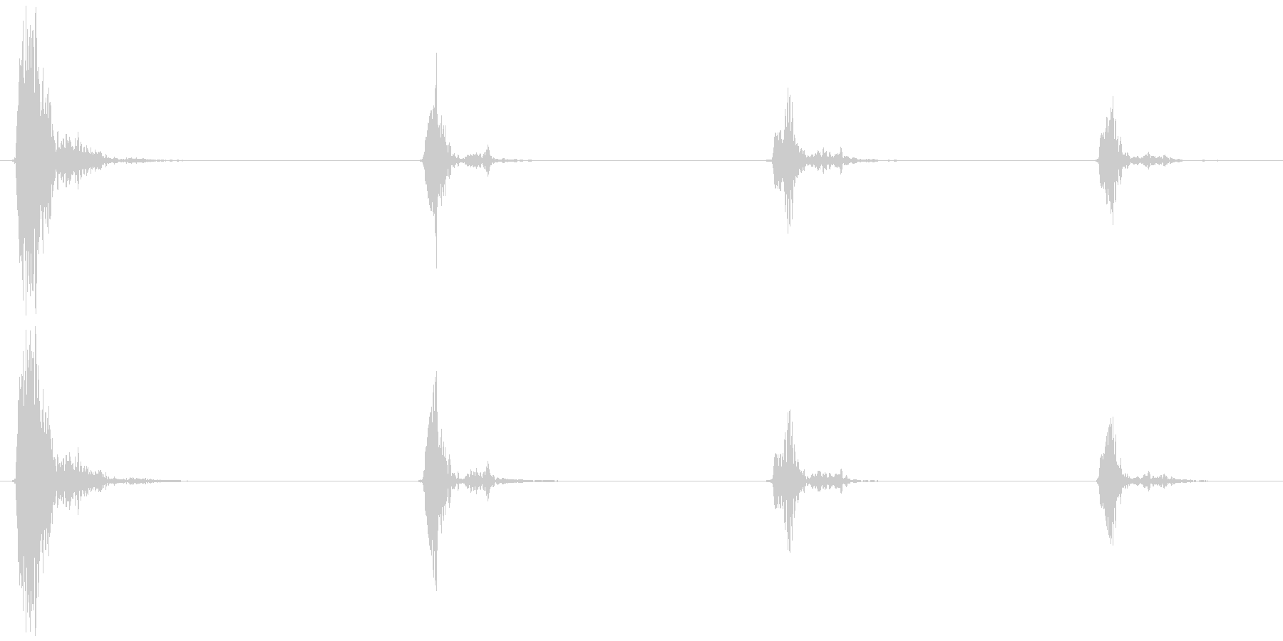 鳥のさえずり (チュウ、チ、チ、チ) の未再生の波形