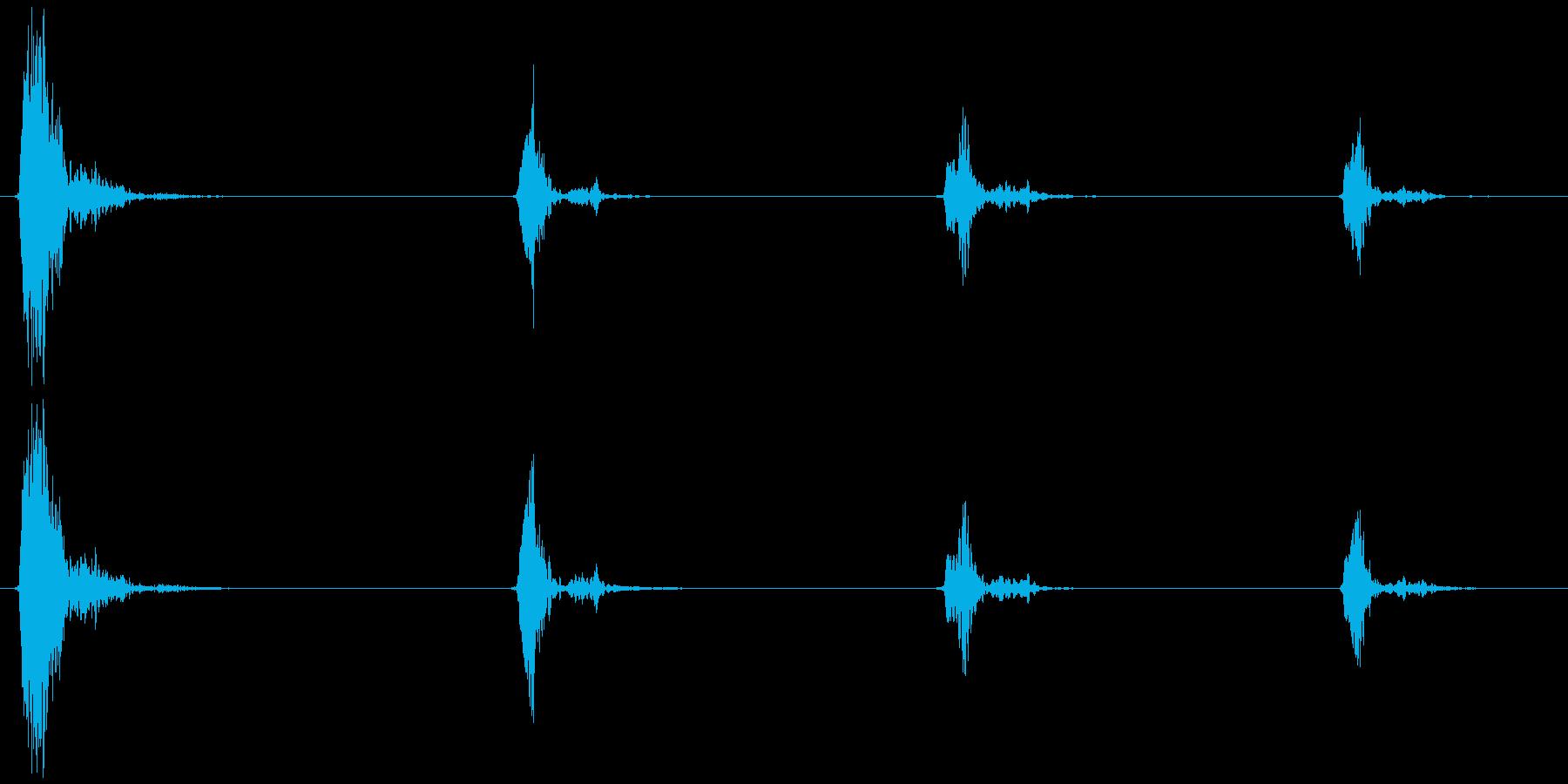 鳥のさえずり (チュウ、チ、チ、チ) の再生済みの波形