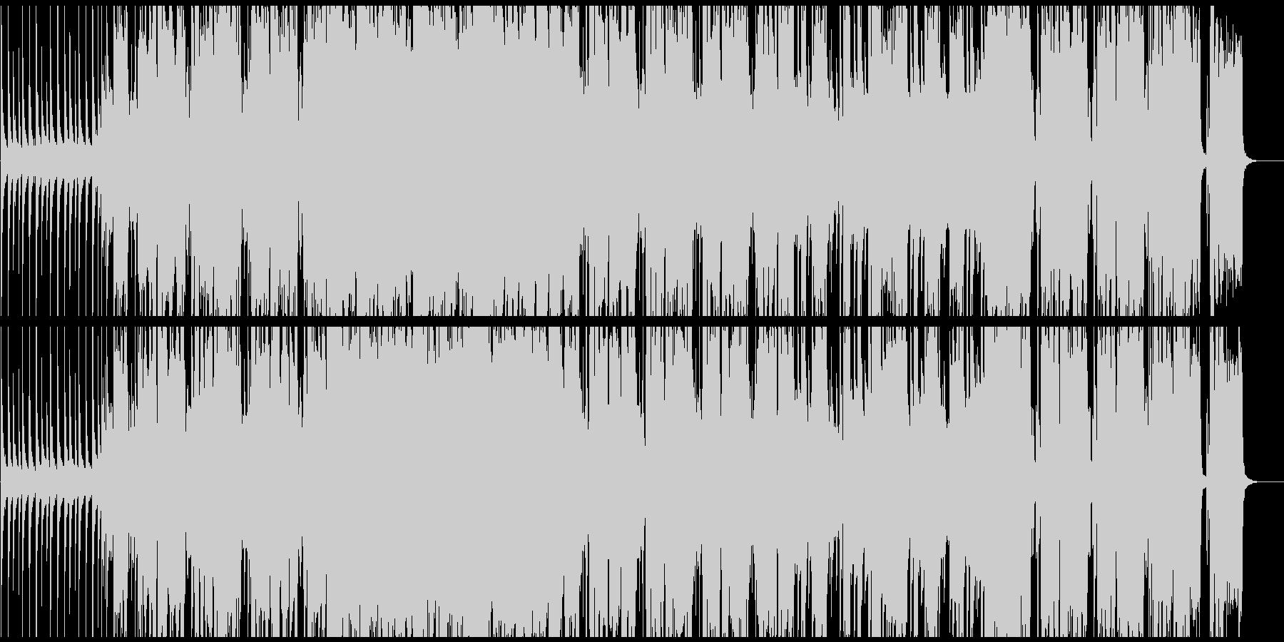 ハードロックギターインストの未再生の波形