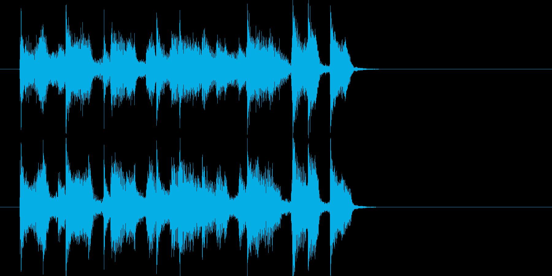 淡々として怪しげな放送向けジングルの再生済みの波形