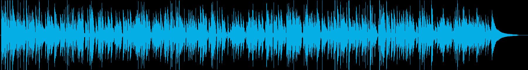 憂いを帯びたクラシックギターのボサノバ曲の再生済みの波形