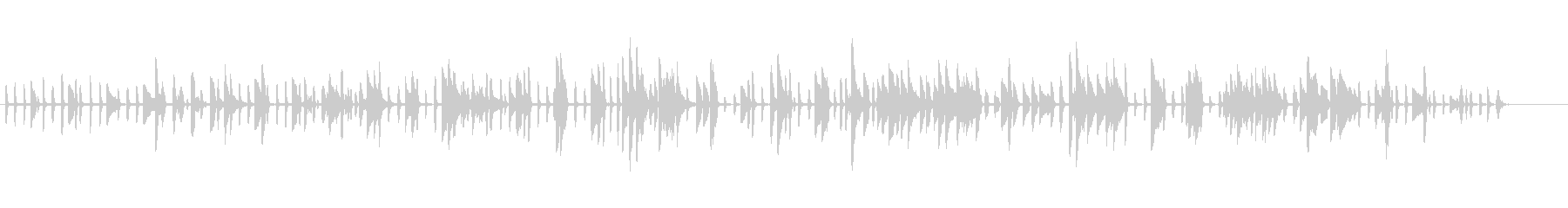 ワクワクするようなピアノソロの未再生の波形