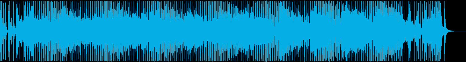 三味線と和太鼓の和風で活気ある楽曲_声無の再生済みの波形