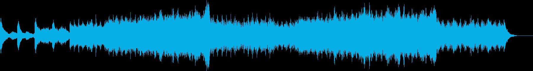 幻想的、感動的なピアノとストリングスの再生済みの波形