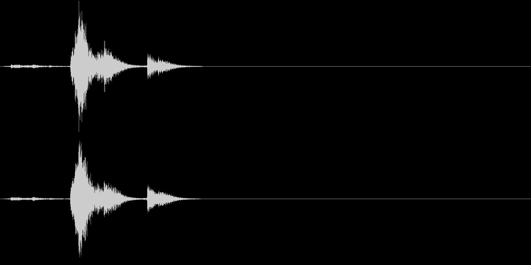 【生録音】TeaCup 食器の音 5の未再生の波形