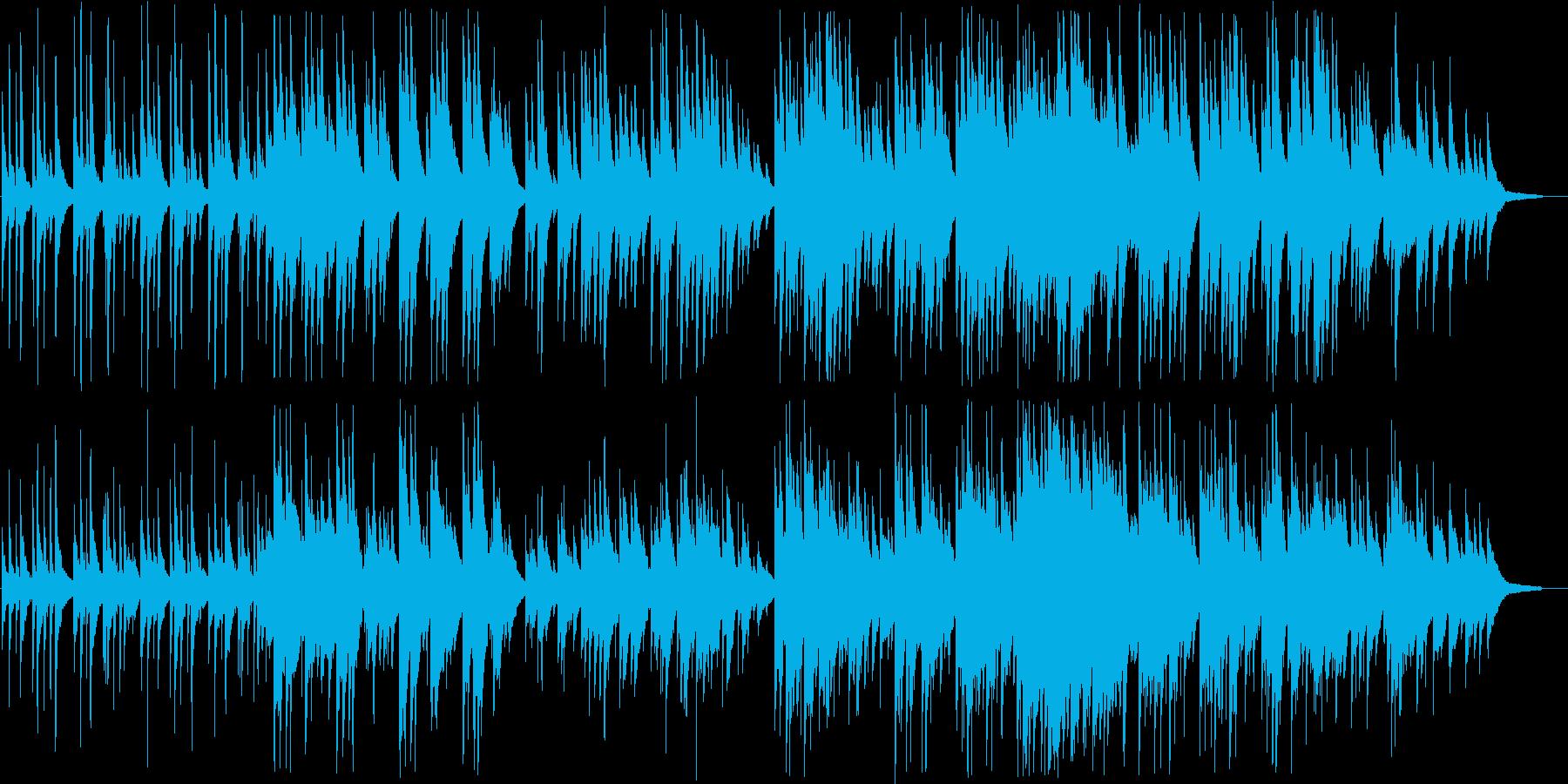 透明感ある綺麗なピアノメロディーの再生済みの波形