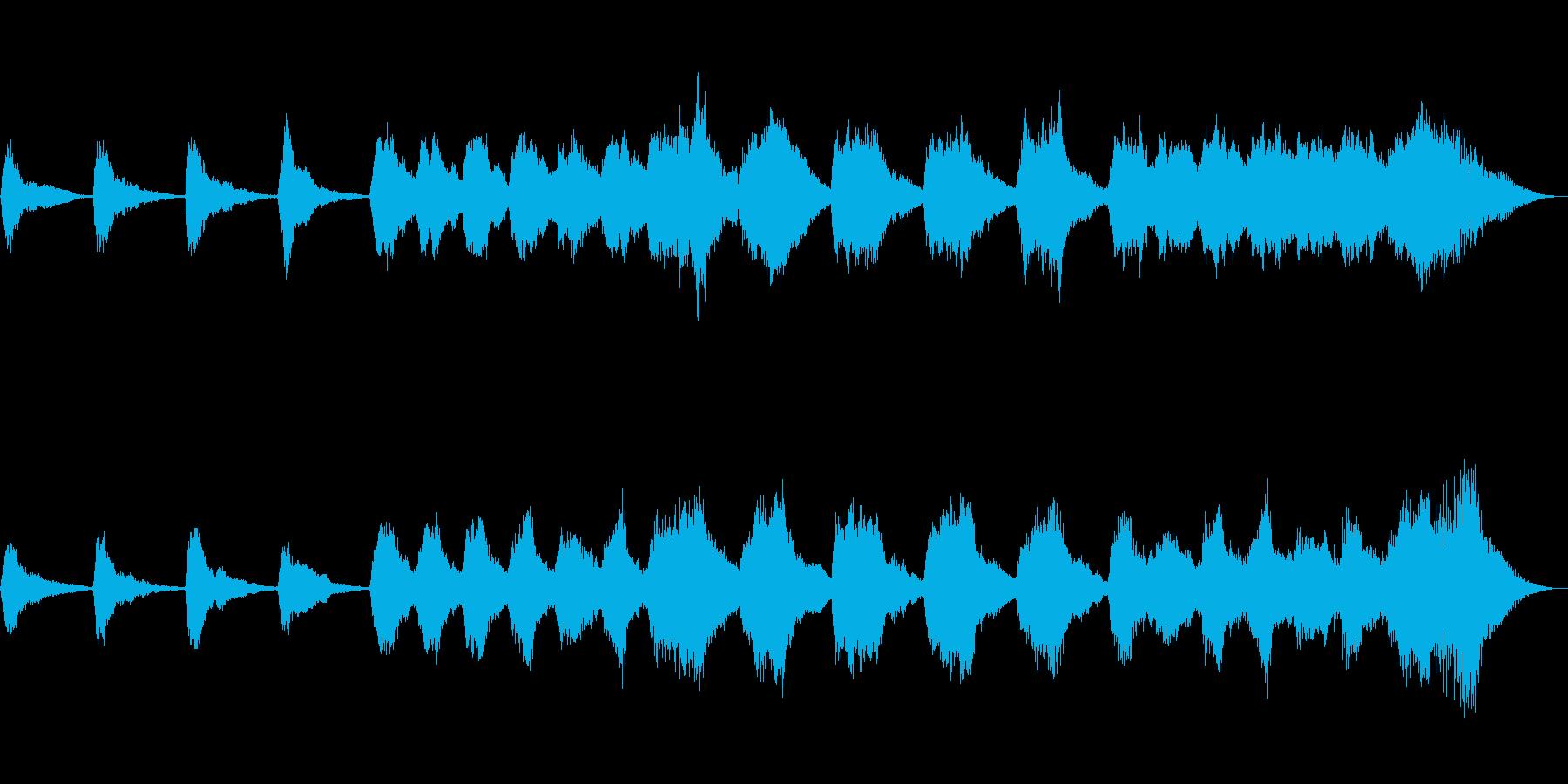 テーマ「もやもやした気持ち」30秒BGMの再生済みの波形