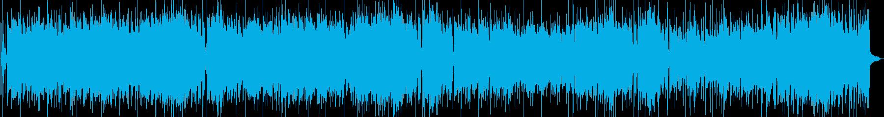 エレキギターのブルースロックロングVerの再生済みの波形